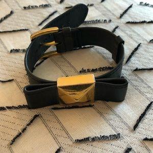 Kate Spade leather bow bracelet